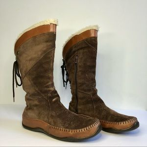 The North Face Brown Lined Janey Winter Boots